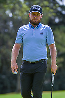 Tyrrell Hatton (ENG) after sinking his putt on 12 during round 2 of the World Golf Championships, Mexico, Club De Golf Chapultepec, Mexico City, Mexico. 2/22/2019.<br /> Picture: Golffile | Ken Murray<br /> <br /> <br /> All photo usage must carry mandatory copyright credit (© Golffile | Ken Murray)