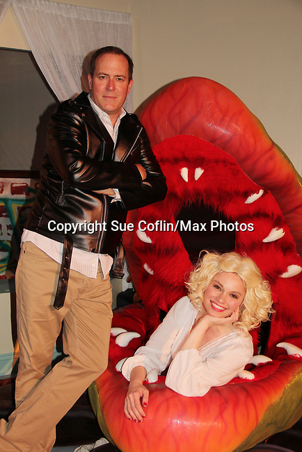 "Guiding Light's Mandy Bruno and Robert Bogue and Audrey II star in Lilttle Shop of Horrors The Musical on May 27, 2018 presented by CaPAA at the Ritz Theater in Scranton, PA. Mandy is ""Audrey"", Robert is ""Orian, Berstein, Luce, Snip, Martin"" and Kelly is ""Seymour"". Mandy is also the director, set designer, video projection production, props and costumes. (Photo by Sue Coflin/Max Photo)"