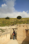 Israel, Shephelah, Beth Guvrin national park, the Dwelling House at the foothill of Tel Maresha