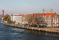 Het Noordereiland in de Maas in Rotterdam