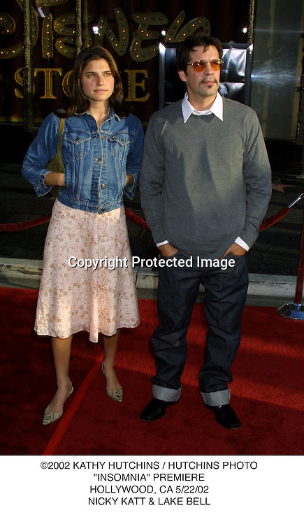 "©2002 KATHY HUTCHINS / HUTCHINS PHOTO.""INSOMNIA"" PREMIERE.HOLLYWOOD, CA 5/22/02.NICKY KATT & LAKE BELL"