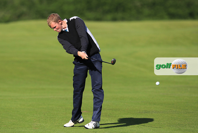 Dean Crawford (Moyola Park) on the 4th fairway during Round 3 of Matchplay in the North of Ireland Amateur Open Championship at Portrush Golf Club, Portrush on Thursday 14th July 2016.<br /> Picture:  Thos Caffrey / www.golffile.ie