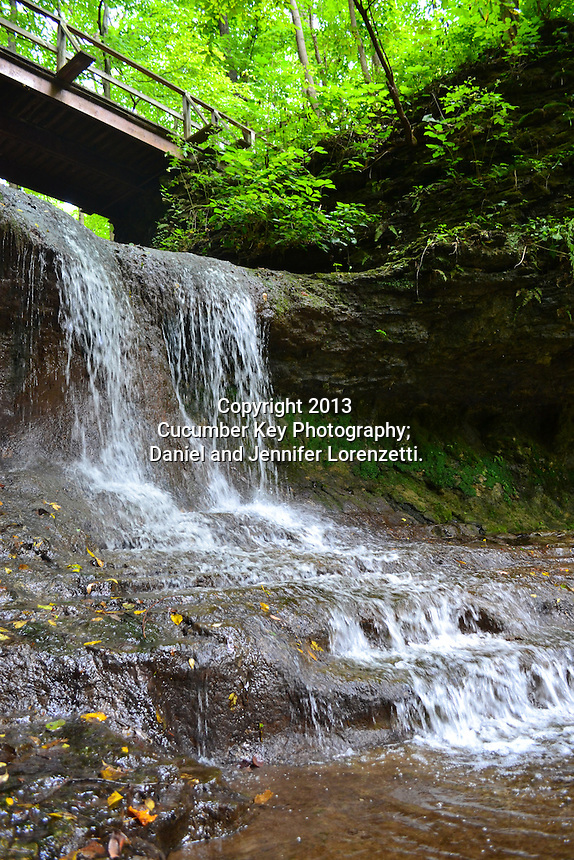 The beautiful waterfall in Glen Helen Nature Preserve in Ohio.