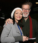 Katrina Lenk and Tom Nelis with Cast of acclaimed Broadway-bound play 'Indecent' meet their Off-Broadway counterparts in 'God of Vengeance' at La Mama on January 10, 2017 in New York City.