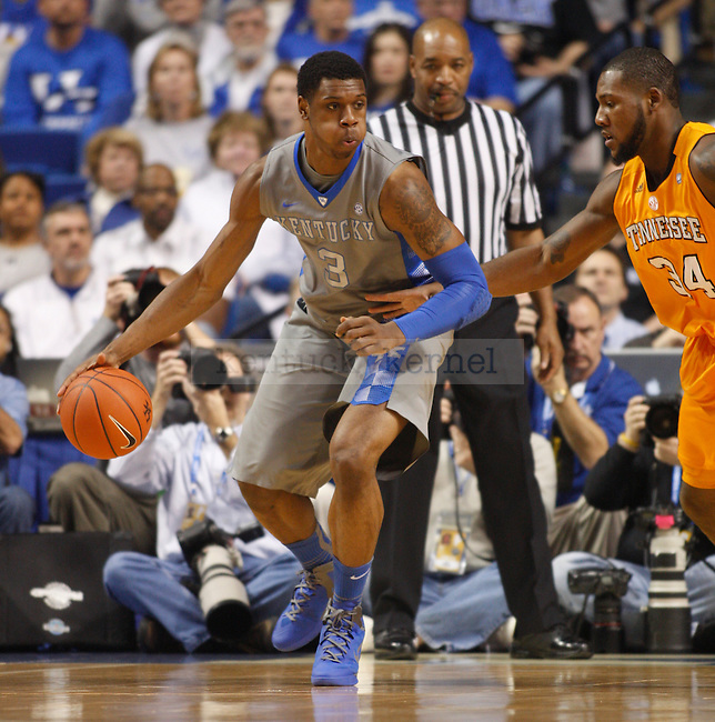 UK's Terrence Jones controls the ball against Tennessee at Rupp Arena on Tuesday, Jan. 31, 2012. Photo by Scott Hannigan | Staff
