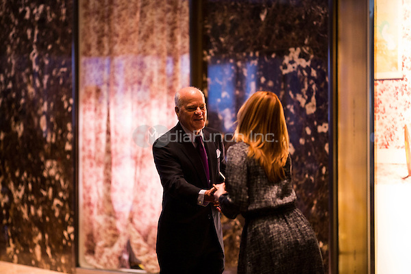 Henry Kravis (co-founder of KKR) arrives at Trump Tower in Manhattan, New York, U.S., on Thursday, Thursday, January 12, 2017. <br /> Credit: John Taggart / Pool via CNP /MediaPunch