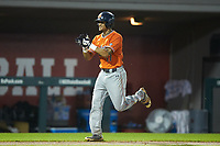Will Holland (17) of the Auburn Tigers claps his hands as he jogs towards home plate after hitting a home run against the Army Black Knights at Doak Field at Dail Park on June 2, 2018 in Raleigh, North Carolina. The Tigers defeated the Black Knights 12-1. (Brian Westerholt/Four Seam Images)