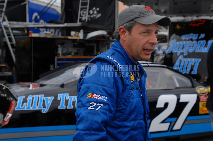 Feb 10, 2007; Daytona, FL, USA; Nascar Nextel Cup driver Kirk Shelmerdine (27) during practice for the Daytona 500 at Daytona International Speedway. Mandatory Credit: Mark J. Rebilas