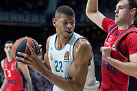 Real Madrid Walter Tavares and Baskonia Vitoria Johannes Voigtmann during Turkish Airlines Euroleague match between Real Madrid and Baskonia Vitoria at Wizink Center in Madrid, Spain. January 17, 2018. (ALTERPHOTOS/Borja B.Hojas) (NortePhoto.com NORTEPHOTOMEXICO)