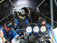 Apr 21, 2018; Baytown, TX, USA; NHRA funny car driver Ron Capps during qualifying for the Springnationals at Royal Purple Raceway. Mandatory Credit: Mark J. Rebilas-USA TODAY Sports