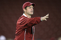 """9 February 2007: Jim Harbaugh during a """"Friday Night Lights"""" practice at Stanford Stadium in Stanford, CA."""