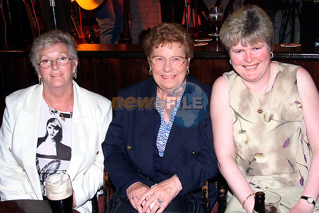 Rose Brady, Eileen Finglas and Pauline Rushe enjoying a night out in the Linen Hall..Picture: Paul Mohan/Newsfile