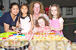 GINGERBREAD: Baking some Ginger Bread at Abbeydorney NS Garden Fete tpo raise funds for the sshool on Sunday : L-r: Marielle and Bianca Mendez, Keira,Joanne and Ann O'Sullivan Abbeydorney.....