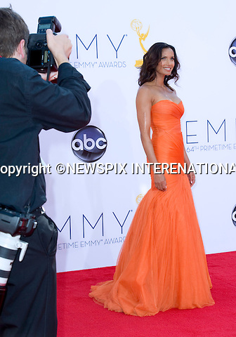 "PADMA LAKSHMI - 64TH PRIME TIME EMMY AWARDS.Nokia Theatre Live, Los Angelees_23/09/2012.Mandatory Credit Photo: ©Dias/NEWSPIX INTERNATIONAL..**ALL FEES PAYABLE TO: ""NEWSPIX INTERNATIONAL""**..IMMEDIATE CONFIRMATION OF USAGE REQUIRED:.Newspix International, 31 Chinnery Hill, Bishop's Stortford, ENGLAND CM23 3PS.Tel:+441279 324672  ; Fax: +441279656877.Mobile:  07775681153.e-mail: info@newspixinternational.co.uk"