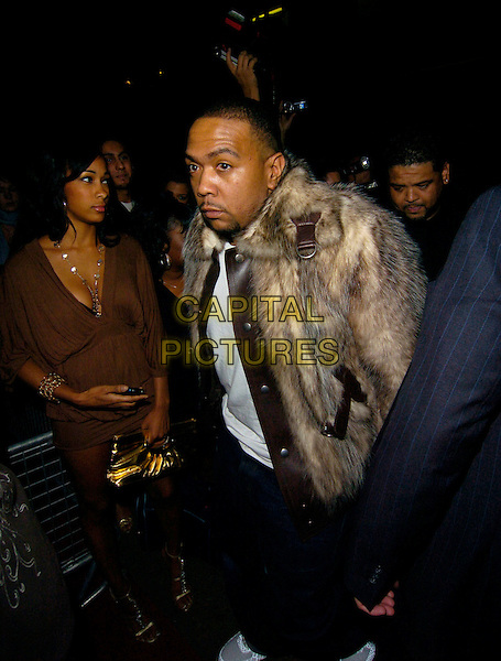 TIMBALAND.At Justin Timberlake's SexyBack Tour After Party, Crystal Nightclub, London, England, July 6th 2007..full 3/4 length fur coat jacket funny face.CAP/CAN.©Can Nguyen/Capital Pictures
