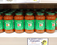 Jacksonville, FL August 1st: Trader Joe's declines to change the names of some of its products after an online petition denounced them as racist.  Trader Giotto's Marinara.  Jacksonville, Florida on August 1st, 2020 Credit: Edward Kerns II/MediaPunch