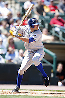 May 25, 2009:  Third Baseman Chris Nowak (44) of the Durham Bulls, International League Triple-A affiliate of the Tampa Bay Rays, during a game at Frontier Field in Rochester, NY.  Photo by:  Mike Janes/Four Seam Images