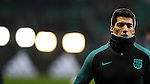 Luis Suárez of Barcelona before the Champions League match at Celtic Park, Glasgow. Picture Date: 23rd November 2016. Pic taken by Lynne Cameron/Sportimage