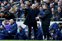 1st March 2020; Tottenham Hotspur Stadium, London, England; English Premier League Football, Tottenham Hotspur versus Wolverhampton Wanderers; Tottenham Hotspur Manager Jose Mourinho complains to the fourth official