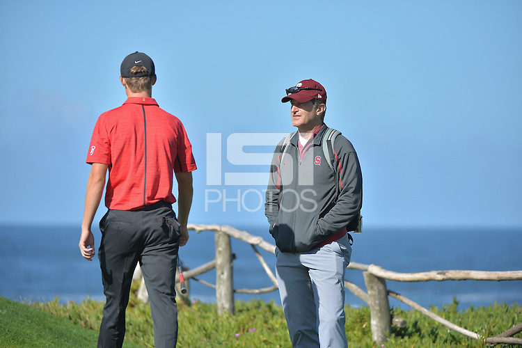 Pebble Beach, Ca -Tuesday, November 1, 2016:  Stanford Men's Golf plays in the Cypress Point Classic.