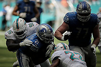 MIAMI, FL, 21.10.2018 – DOLPHINS-LIONS – Jogador Abdullah do Lions, durante partida válida pela sétima semana da temporada regular da NFL, no Hard Rock Stadium, na tarde deste domingo (21). (Foto: Jayson Braga / Brazil Photo Press)