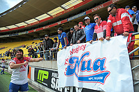 Ryan Shelford thanks 'Nua fans after the Heartland Championship rugby match between Horowhenua Kapiti and Wairarapa Bush at Westpac Stadium in Wellington, New Zealand on Sunday, 1 October 2017. Photo: Dave Lintott / lintottphoto.co.nz