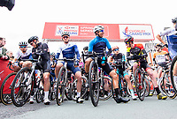 Picture by Allan McKenzie/SWpix.com - 15/04/18 - Cycling - HSBC UK British Cycling Spring Cup Road Series - Chorley Grand Prix 2018 - Chorley, England - The start line at the Chorley GP, gantry, roll out.
