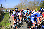 The peloton including Slovakian National Champion Peter Sagan (SVK) Bora-Hansgrohe climb Beaucarnestraat during the 2019 E3 Harelbeke Binck Bank Classic 2019 running 203.9km from Harelbeke to Harelbeke, Belgium. 29th March 2019.<br /> Picture: Eoin Clarke | Cyclefile<br /> <br /> All photos usage must carry mandatory copyright credit (© Cyclefile | Eoin Clarke)