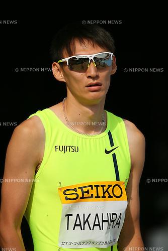 Shinji Takahira, MAY 10, 2015 - Athletics : IAAF World Challenge Seiko Golden Grand Prix in Kawasaki, Men's 200m at Todoroki Stadium, Kanagawa, Japan. (Photo by YUTAKA/AFLO SPORT)