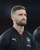 Arsenal's Shkodran Mustafi<br /> <br /> Photographer Rob Newell/CameraSport<br /> <br /> Football - UEFA Europa League Round of 16 Leg 2 - Arsenal v Rennes - Thursday 14th March 2019 - The Emirates - London<br />  <br /> World Copyright © 2018 CameraSport. All rights reserved. 43 Linden Ave. Countesthorpe. Leicester. England. LE8 5PG - Tel: +44 (0) 116 277 4147 - admin@camerasport.com - www.camerasport.com