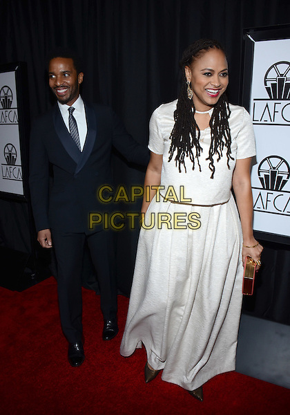 10 January 2015 - Century City, California - Andre Holland, Ava DuVernay. The 40th Annual Los Angeles Film Critics Association Awards held at InterContinental Los Angeles. <br /> CAP/ADM/TW<br /> &copy;Tonya Wise/AdMedia/Capital Pictures