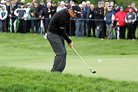 Paul McGinley chips in on the 6th hole during the third round of the Irish Open on 19th of May 2007 at the Adare Manor Hotel & Golf Resort, Co. Limerick, Ireland. (Photo byEoin Clarke/NEWSFILE).