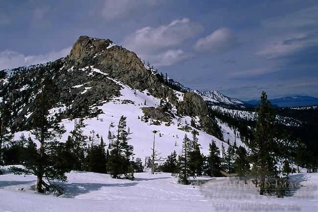 Echo Lakes area in winter, near Lake Tahoe, California
