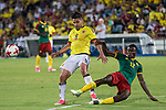 Radamel Falcao of Colombia competes for the ball with Guihoata of Camerun during the friendly match between Camerun and Colombia in Madrid, Spain 13 jun 2017.(ALTERPHOTOS/Rodrigo Jimenez)