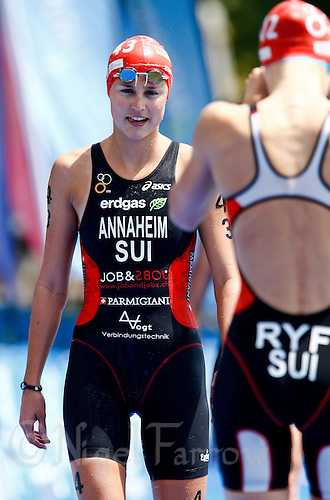 05 JUN 2010 - MADRID, ESP - Melanie Annaheim - Womens ITU World Championship Series triathlon (PHOTO (C) NIGEL FARROW)