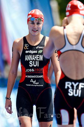 05 JUN 2010 - MADRID, ESP - Melanie Annaheim - Womens ITU World Championship Series triathlon (PHOTO (C) NIGEL FARROW)
