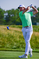 Tommy Fleetwood (ENG) watches his tee shot on 12 during Thursday's round 1 of the 117th U.S. Open, at Erin Hills, Erin, Wisconsin. 6/15/2017.<br /> Picture: Golffile | Ken Murray<br /> <br /> <br /> All photo usage must carry mandatory copyright credit (&copy; Golffile | Ken Murray)