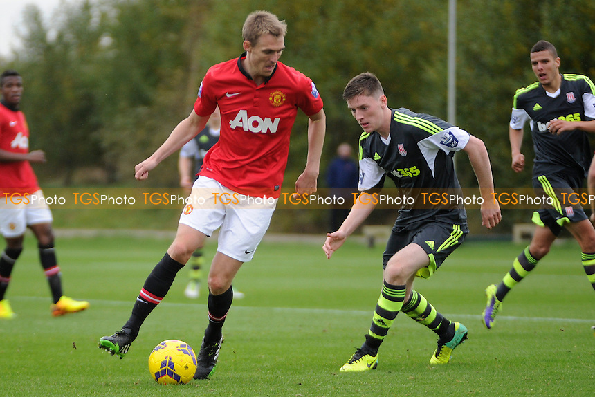 Darren Fletcher of Manchester United controls the ball - Manchester United Under-21 vs Stoke City Under-21 - Barclays Under-21 Premier League Football at the Aon Training Complex - 08/11/13 - MANDATORY CREDIT: Greig Bertram/TGSPHOTO - Self billing applies where appropriate - 0845 094 6026 - contact@tgsphoto.co.uk - NO UNPAID USE