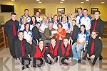 East Kerry All Ireland winners who were honoured by Killarney Credit Union last Tuesday evening. Front row l-r: Niall Crowley, Aoife OLeary, Noreen OSullivan, Ciara Riordan, and Christopher Foley. Second row: Sinead Nelligan Spa, Padraig McSweeney Kilcummin, Michael Leane Killarney Credit Union, Anne Mangan, John McSweeney Kilcummin, Sheree Murphy Spa. Third row: Gavin OLeary Kilcummin, Anne Maire Nelligan, Maureen Hegarty, Triona Mangan, Patrick Moynihan, Mairead Mangan, Joanne OConnor, John Riney all Spa, Colin ORiordan Kilcummin. Forth row: Michael ORourke Spa, Eoin Cronin Spa, John OSullivan, Tony Moynihan, Dan OConnor all Rathmore and David Rea Spa.