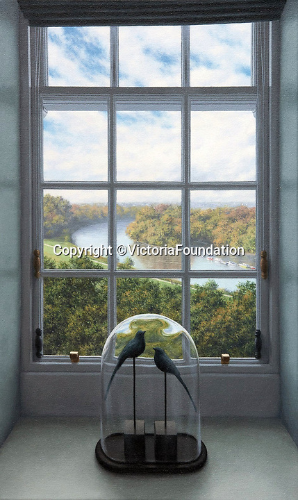 BNPS.co.uk (01202 558833)<br /> Pic: VictoriaFoundation/BNPS<br /> <br /> Steve Whitehead - The View: Through a Window.<br /> <br /> The only view in England which is considered so beautiful it is protected by an Act of Parliament has been captured by various artists in a new book.<br /> <br /> The view from Richmond Hill in London would normally have been buried under urban sprawl as the capital has grown over the last hundred years, but thanks to the enlightened Act of 1902 this idyllic oasis still survives<br /> <br /> Under the Richmond, Ham and Petersham Open Spaces Act (1902), no construction was allowed which would impinge on the picturesque view from Richmond Hill in south-west London made famous by artist's such as JMW Turner in the previous century.<br /> <br /> Prominent in the panorama - perched on top of Richmond Hill - is the Grade II listed Star and Garter Building which until recently housed injured ex-servicemen but has now been converted into 84 apartments.<br /> <br /> Seventeen artists were commissioned for the project - which also included an exhibition - and they have created idyllic snapshots of the Star and Garter Building, Richmond Park and the river Thames from different vantage points.