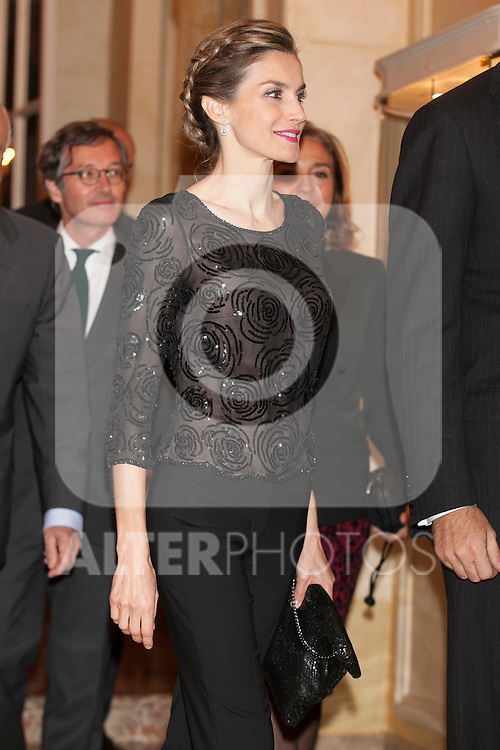 Queen Letizia of Spain attends the XXXI Francisco Cerecedo journalism awards ar Ritz hotel in Madrid, Spain. November 05, 2014. (ALTERPHOTOS/Victor Blanco)