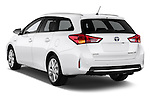 2013 Toyota Auris Premium Hybrid Touring Sports Wagon Angular Rear Stock Photo