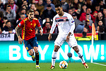 Spain's Sergio Busquets and Norway's Joshua King  during the qualifying match for Euro 2020 on 23th March, 2019 in Valencia, Spain. (ALTERPHOTOS/Alconada)