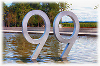 A view of the Number 99 on the pond at Wayne Gretzky Estates