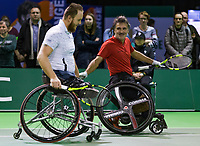 Rotterdam, The Netherlands, 14 Februari 2019, ABNAMRO World Tennis Tournament, Ahoy, Wheelchair final doubles, Stephane Houdet (FRA) / Nicolas Peifer (FRA),<br /> Photo: www.tennisimages.com/Henk Koster