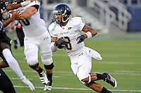 30 March 2012:  FIU's Loranzo Hammonds (8) carries the ball at the FIU Football Spring Game at University Park Stadium in Miami, Florida.