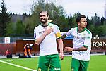 S&ouml;dert&auml;lje 2014-05-18 Fotboll Superettan Syrianska FC - Hammarby IF :  <br /> Hammarbys Kennedy Bakircioglu jublar och klappar sig f&ouml;r br&ouml;stet efter sitt 4-2 m&aring;l<br /> (Foto: Kenta J&ouml;nsson) Nyckelord:  Syrianska SFC S&ouml;dert&auml;lje Fotbollsarena Hammarby HIF Bajen jubel gl&auml;dje lycka glad happy