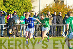 Mike Francie Russell Laune Rangers gets past John Blennerhasset Milltown Castlemaine during the Mid Kerry final in Beaufort on Saturday