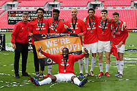 Salford City celebrate winning the Promotion Play-Off Final during AFC Fylde vs Salford City, Vanarama National League Football Promotion Final at Wembley Stadium on 11th May 2019
