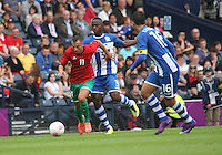 Men's Olympic Football match Honduras v Morocco on 26.7.12...During the Honduras v Morocco Men's Olympic Football match at Hampden Park, Glasgow................